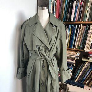 Classic Olive Trench Coat